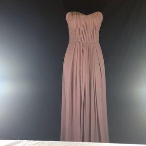 H & M ,Size 8 , strapless , Maxi Dress, Light pink